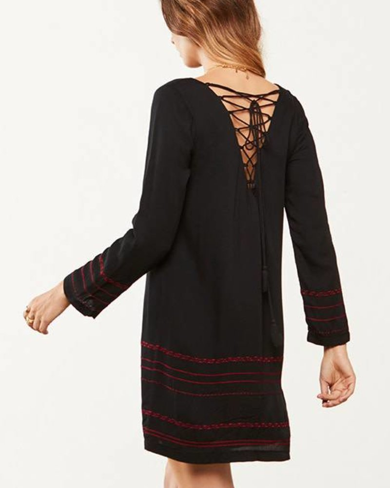 BB Dakota BB Dakota Embroidered 'Kassel' Dress (Extra Small) **FINAL SALE**