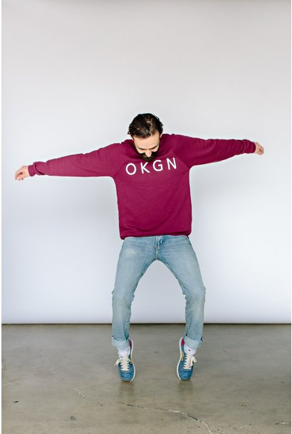 'OKGN' Puff Crewneck