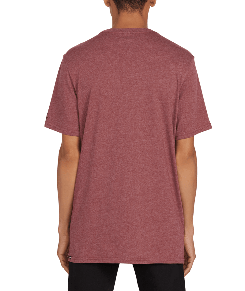 Heather Solid Short Sleeve Tee-2