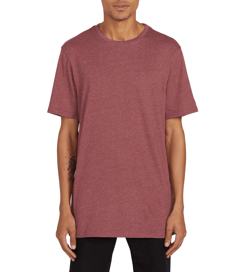Heather Solid Short Sleeve Tee-1
