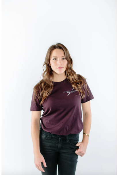 Locally Crafted Oxblood Tee