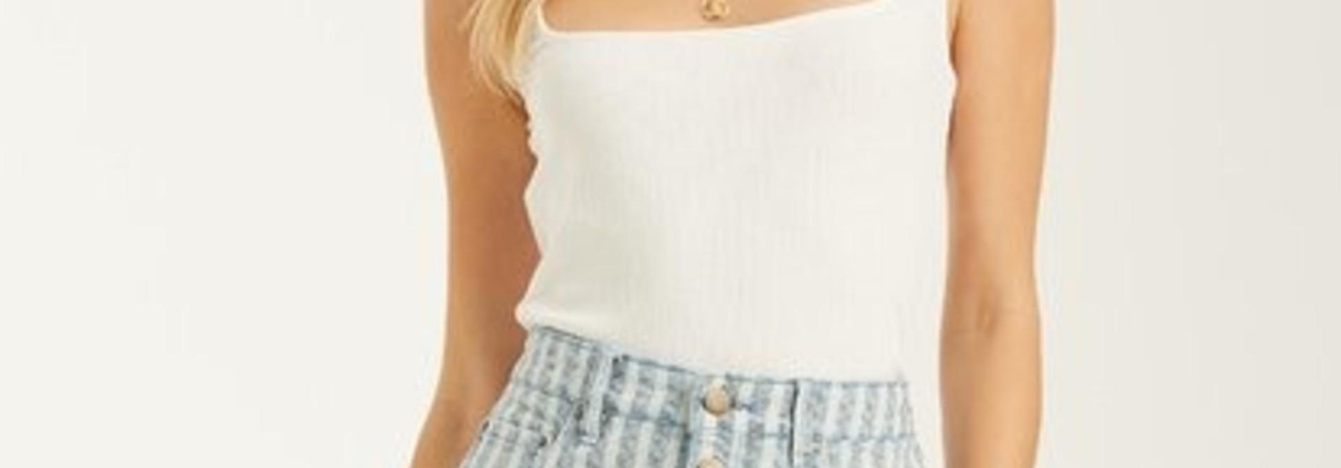 Cute As Indigo Skirt