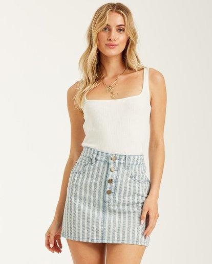 Cute As Indigo Skirt-1