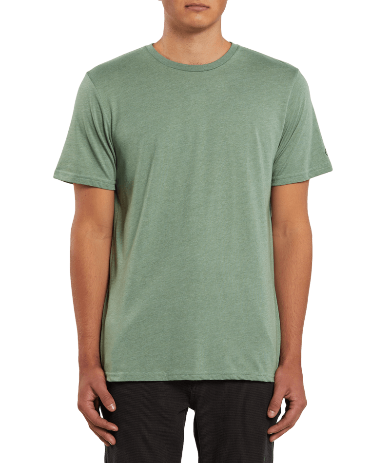 Heather Solid Short Sleeve Tee-3