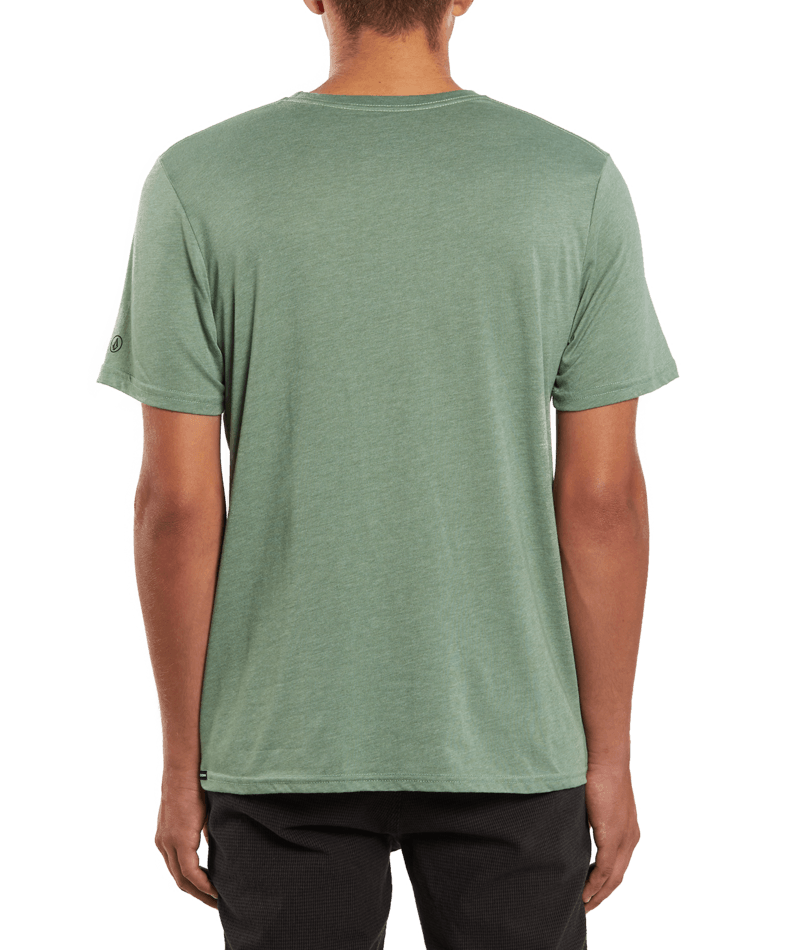 Heather Solid Short Sleeve Tee-4