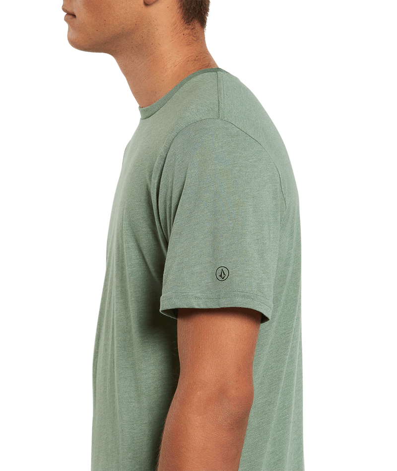 Heather Solid Short Sleeve Tee-5