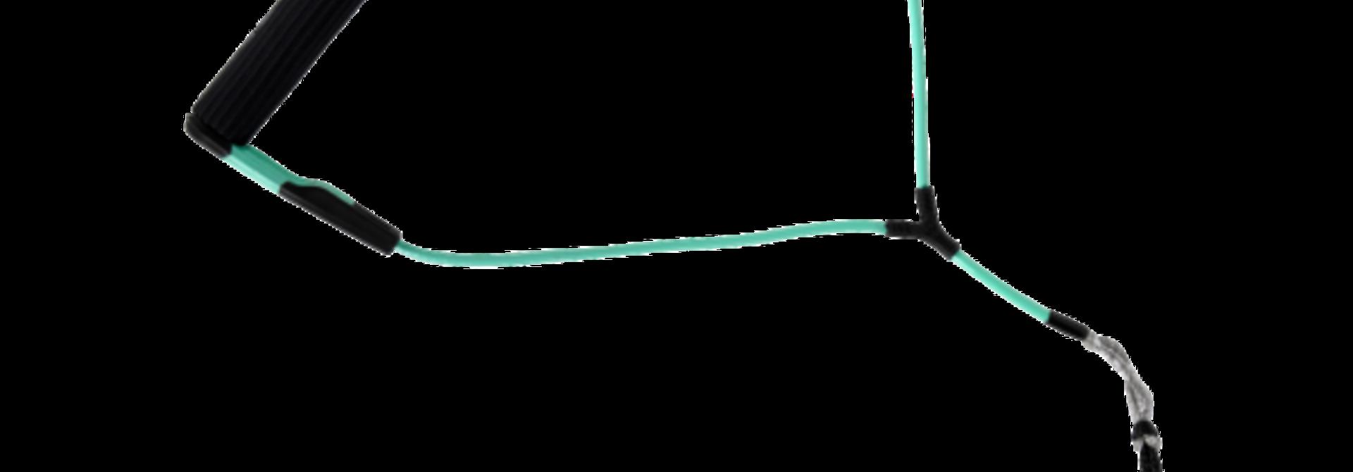 One Nylon Bar Lock Wakeboard Handle Black/Seafoam