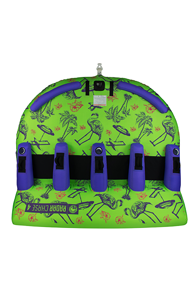 The Chase Lounge 4 Person Tube-Tropical/Lime/Purple-3