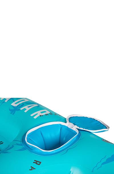 Reef Lounge 4 Person Floatie-Blue Palms-4