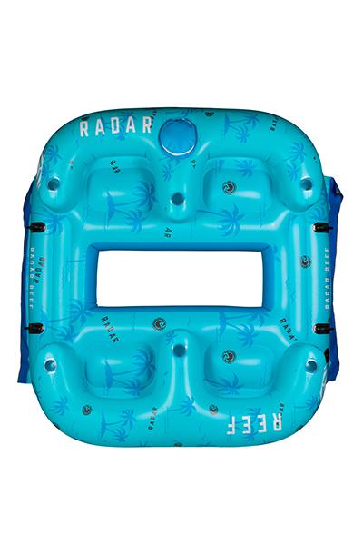 Reef Lounge 4 Person Floatie-Blue Palms-5