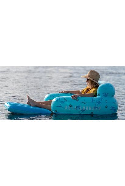 Aqua Lounger Floatie-Blue Palms