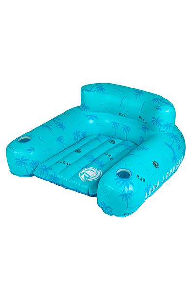 Aqua Lounger Floatie-Blue Palms-2