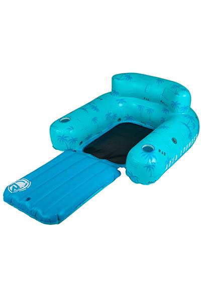 Aqua Lounger Floatie-Blue Palms-4