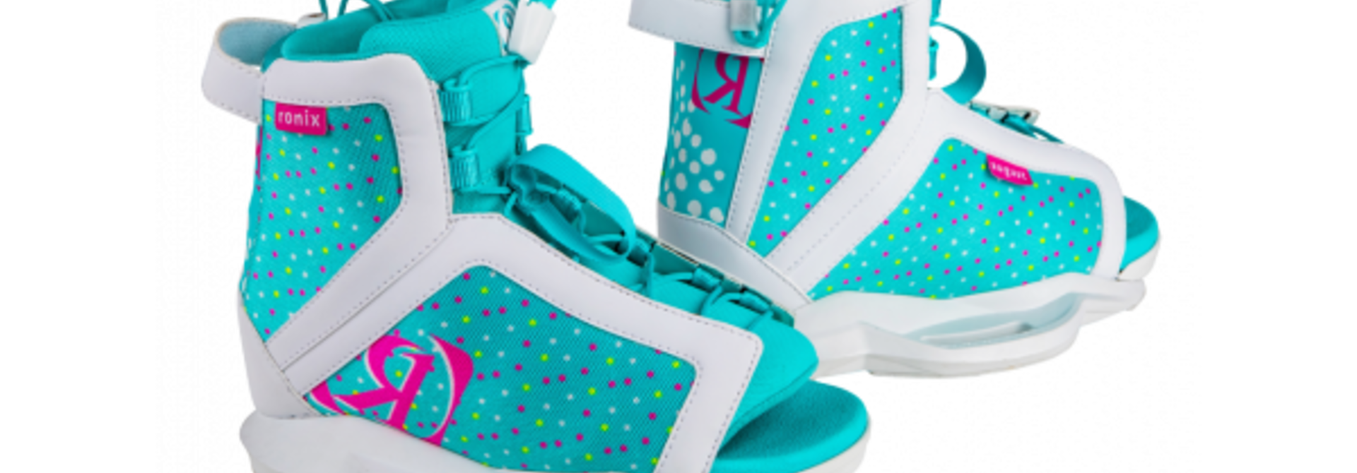 August Girl's Wakeboard Boot - White/Pink/Blue Orchid 2-6
