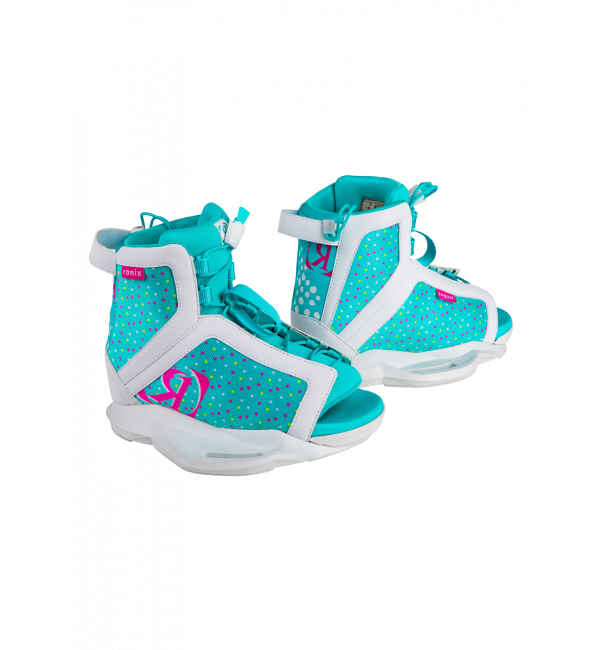 August Girl's Wakeboard Boot - White/Pink/Blue Orchid 2-6-1