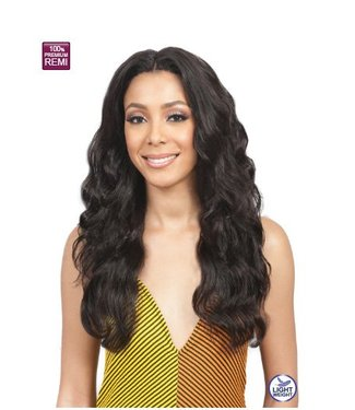 Bobbi Boss Bobbi Boss MHLF-W Samira 100% Human Hair Lace Front Wig