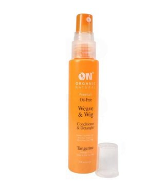 Organic Natural Weave & Wig Conditioner & Detangler Spray Tangerine 8oz