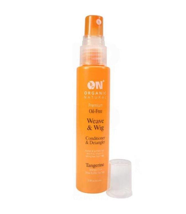 Organic Natural Weave & Wig Conditioner & Detangler Spray Tangerine 8oz