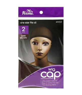 2 Piece One Size Fits All Wig Cap Dark Brown