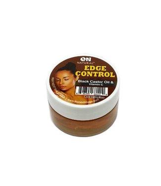 ON Natural Edge Control Black Castor Oil & Vitamin C Hair Gel 1OZ