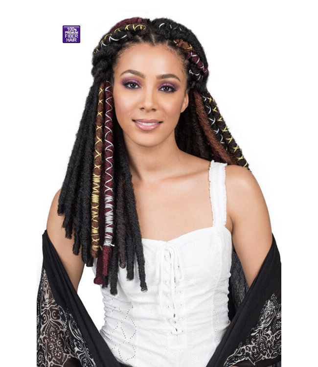 "Bobbi Boss Bobbi Boss Bae Locs Gold 12"" Crochet Braids"