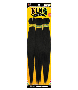 Bobbi Boss Bobbi Boss King Tips 3X  Pre-Feathered 44-Inch  Braid Hair