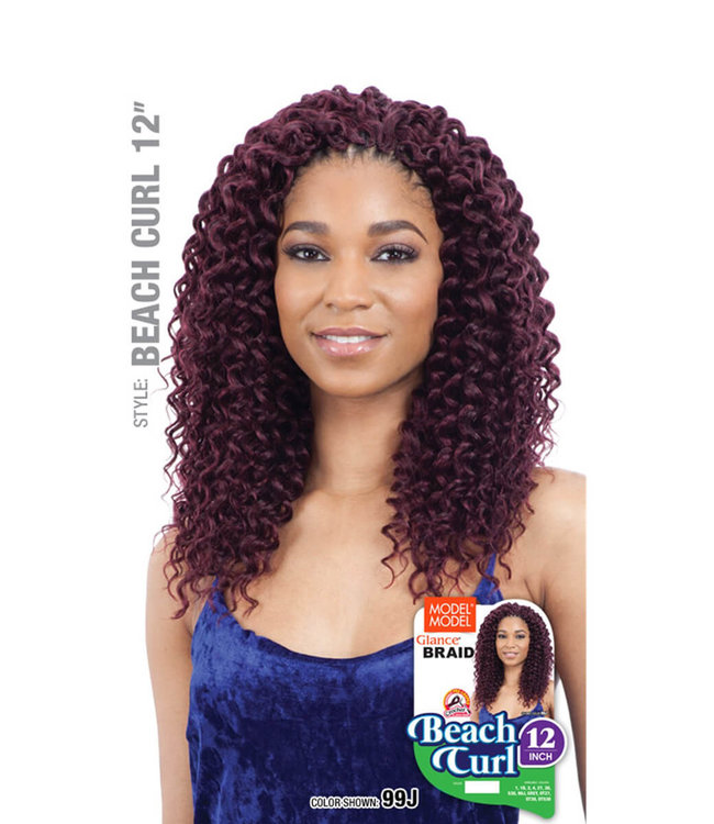 Model Model Model Model Beach Curl 12-Inch Crochet Hair