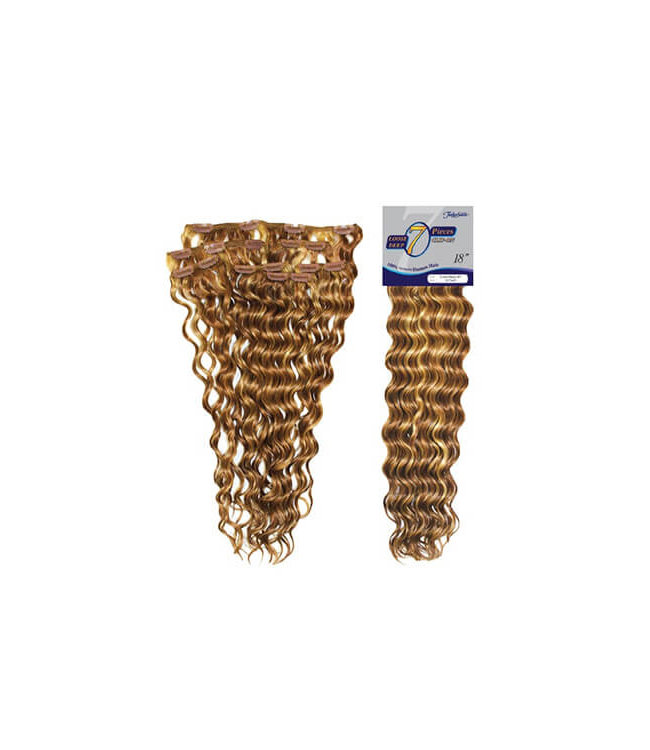 """Fashion Source Fashion Source 7PC Loose Deep Wave 18"""" Clip-In Extensions"""