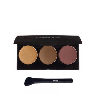KISS NEW YORK PROFESSIONAL Kiss Professional Contour Kit Deep-Profond (KCT03)