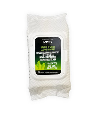 KISS NEW YORK PROFESSIONAL Kiss Professional Green Tea Makeup Remover Wipes 36ct