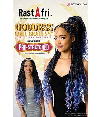 """Rastafri RastAfri Goddess Curl Braid 40"""" Braiding Hair"""