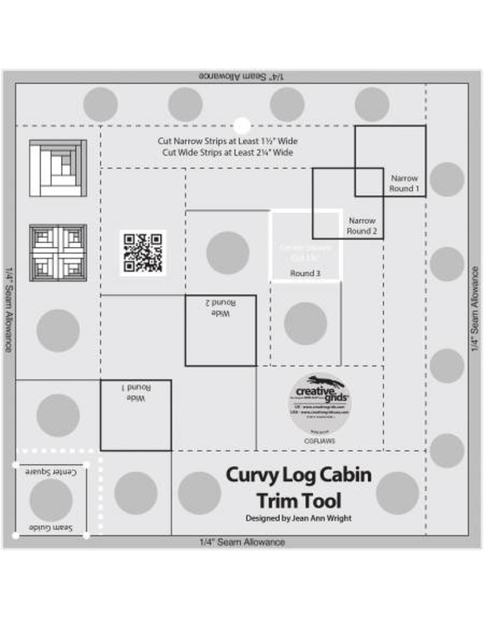 Creative Grids Curvy Log Cabin