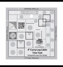 Creative Grids 4in Curvy Log Cabin Trim Tool