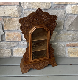 Antique Clock Display Case, Oak, American