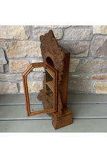 Antique Clock Display Case, Oak, American