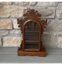 Antique Clock Display Case, Walnut, Welch