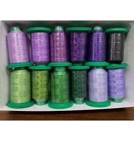 Isacord Thread Set Iris - 12 spools & Schmetz Needles