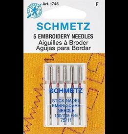 Schmetz Embroidery Machine Needle Size 75/11