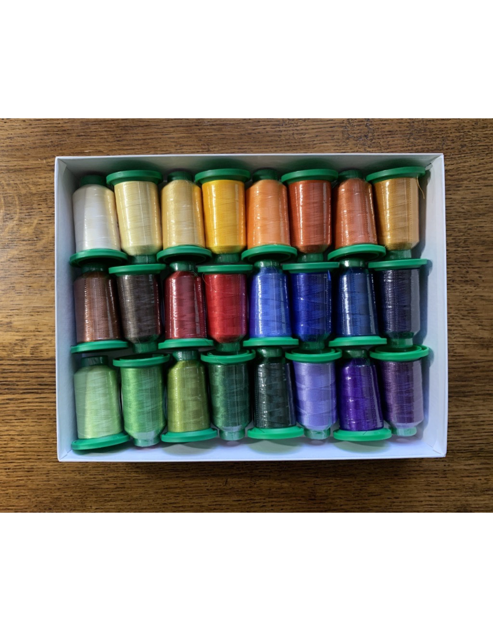 Isacord Thread Set - Bloomin' Mats - 24 Spools & Schmetz Needles