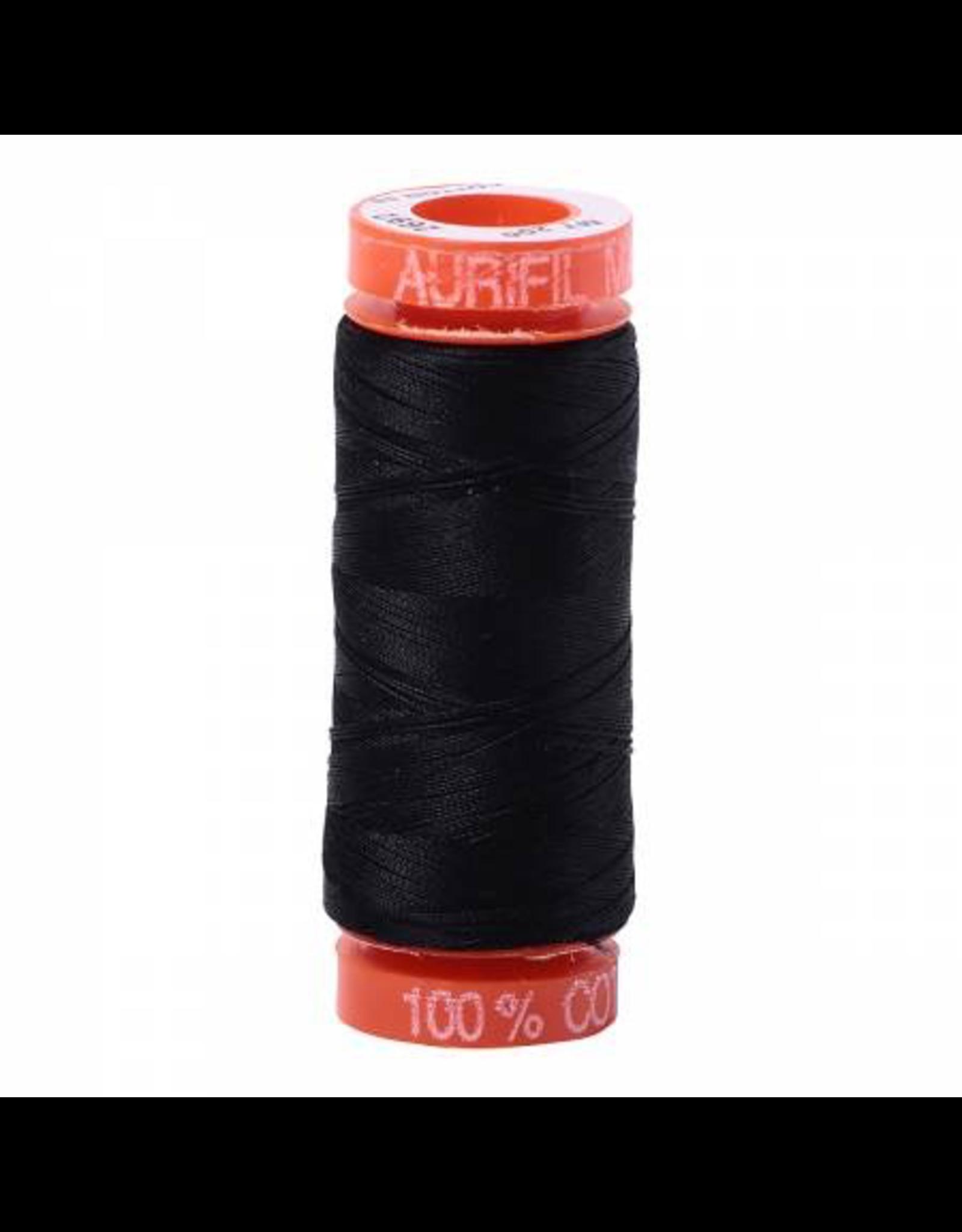 Aurifil Cotton Thread 50 wt 220 yd Black