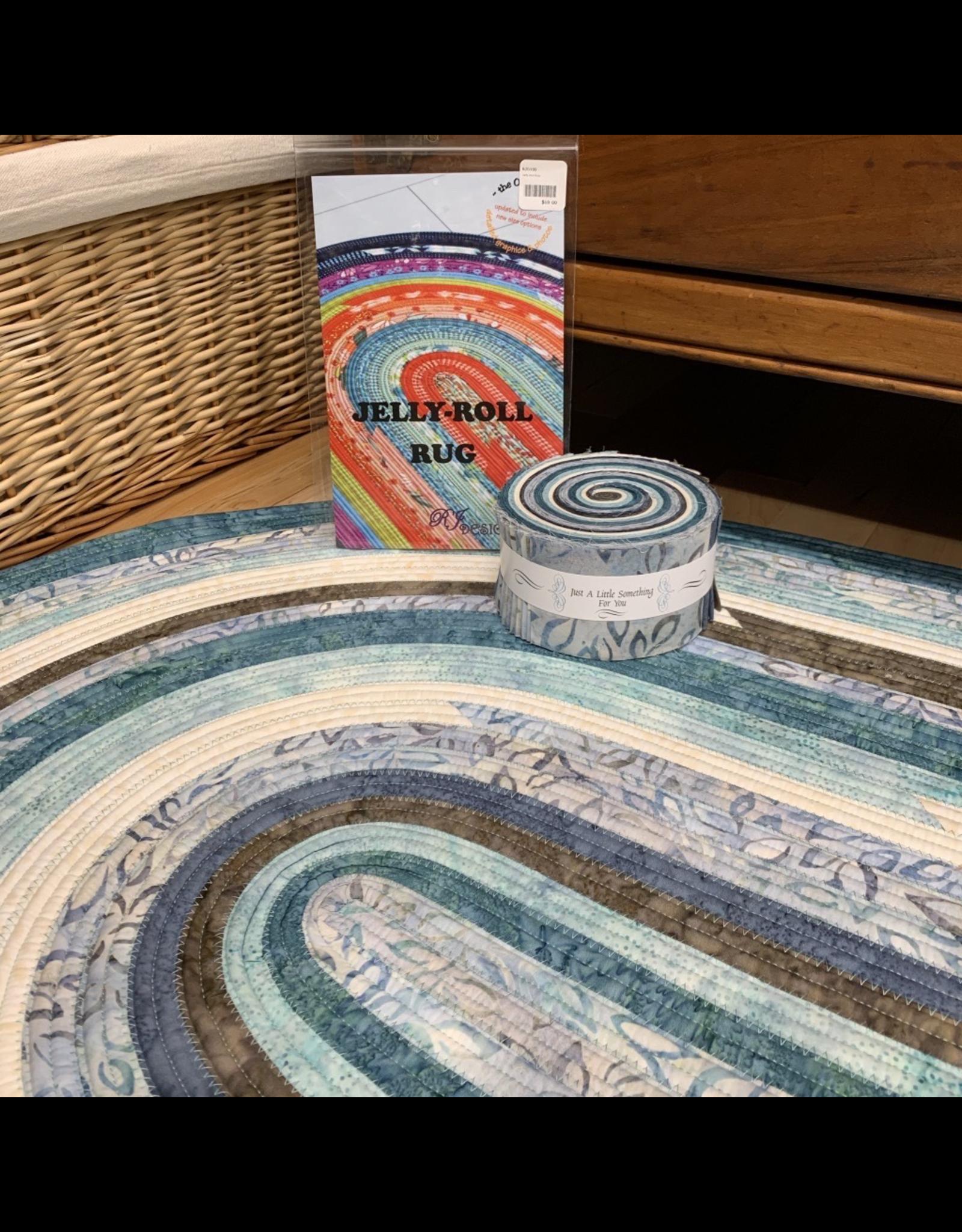Batik Jelly-Roll Rug Kit (Oval #2)