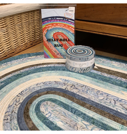 Batik Jelly-Roll Rug Kit (Oval #2)