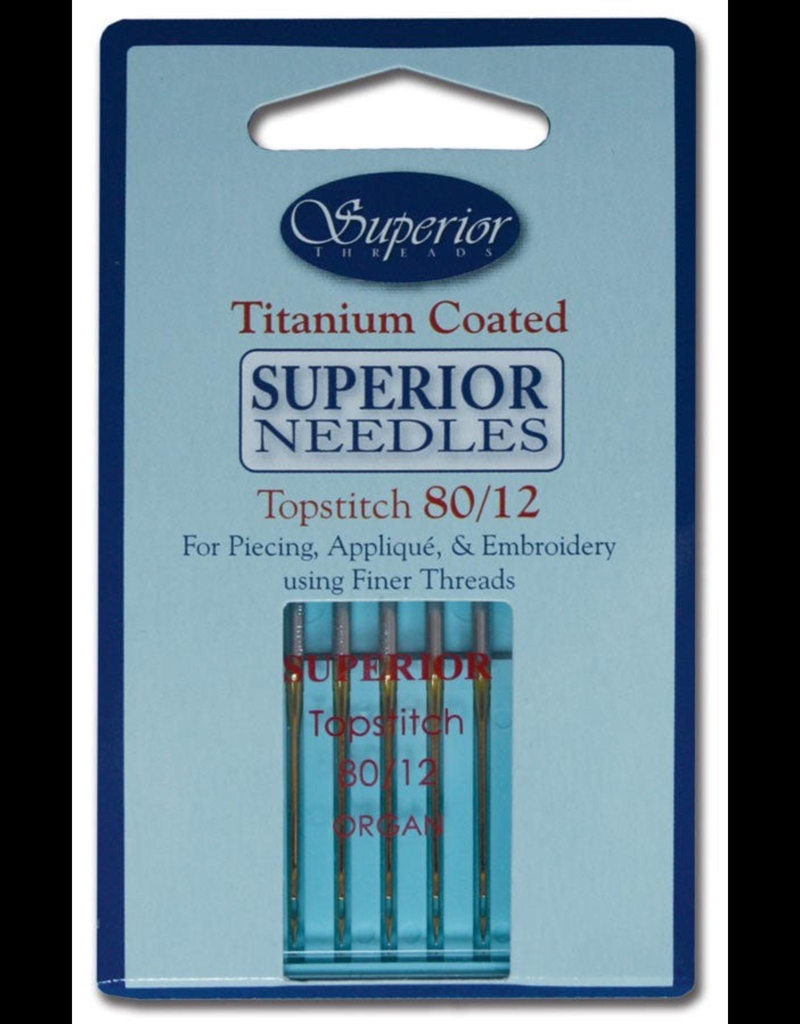 Superior Topstitch Machine Needle Size 80/12