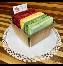 Batik Fat Quarter Basket - Apples