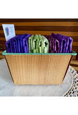 Batik Fat Quarter Basket - Grapes