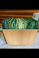 Batik Fat Quarter Basket - Leafy Greens
