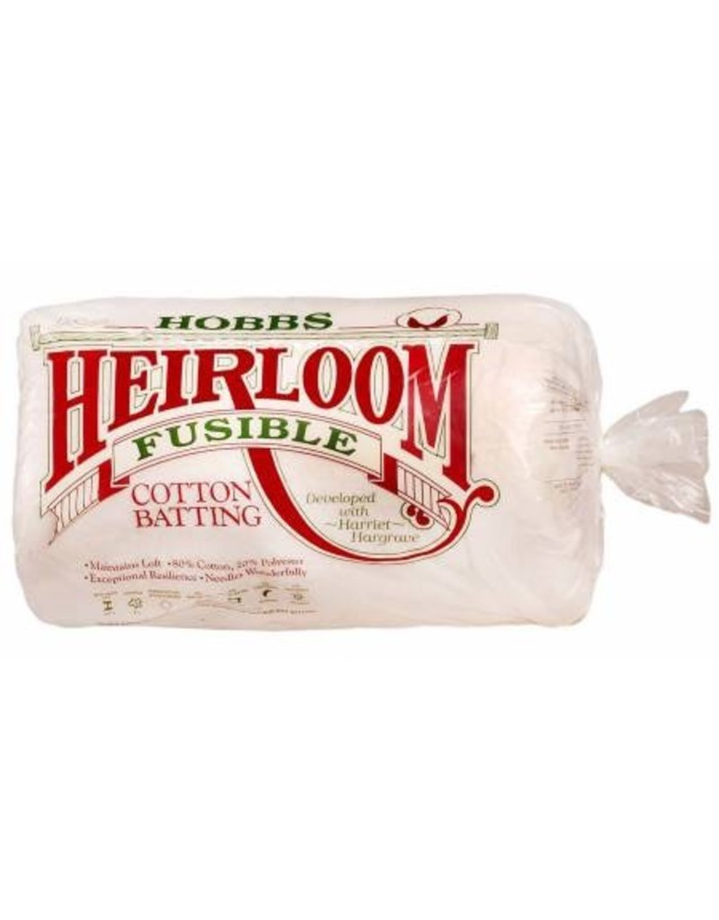 "Heirloom Fusible Unbleached Cotton Blend  Batting - 96""Wide"