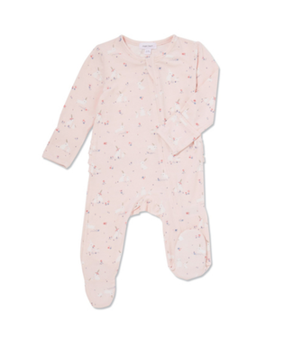 Angel Dear Baby Bunnies Pink Zipper Footie