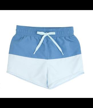 Minnow Swim Boys Blue Colorblock Boardie