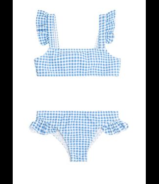Minnow Swim Girls Blue Gingham Bikini